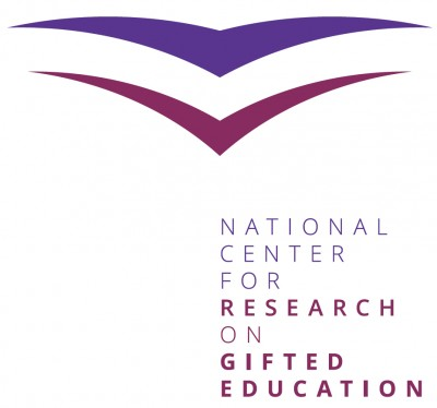 Logo of book cover and pages for the National Center for Research on Gifted Education