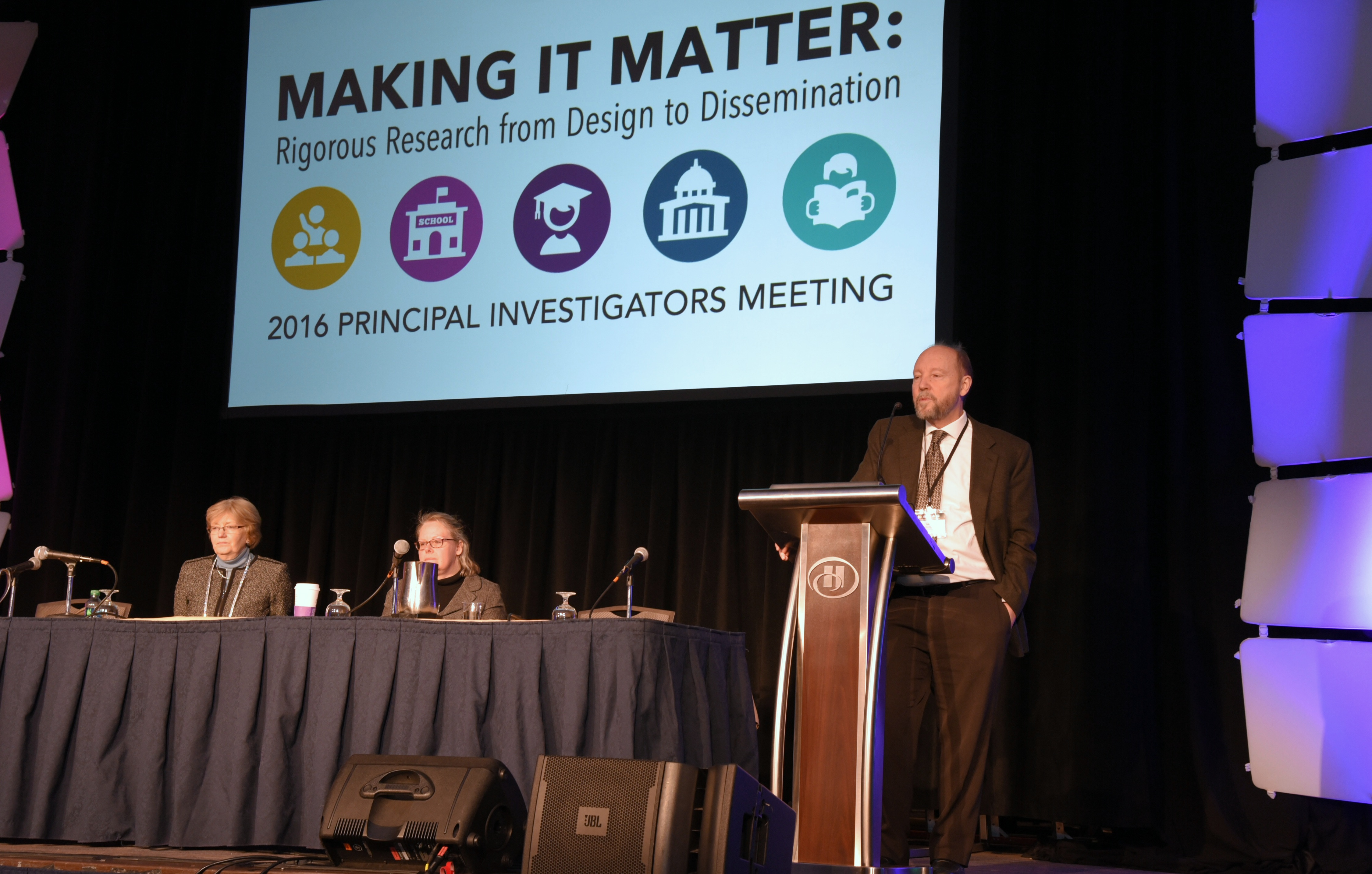 Dr. Larry Hedges speaking at 2016 IES PI Meeting in Washington, DC