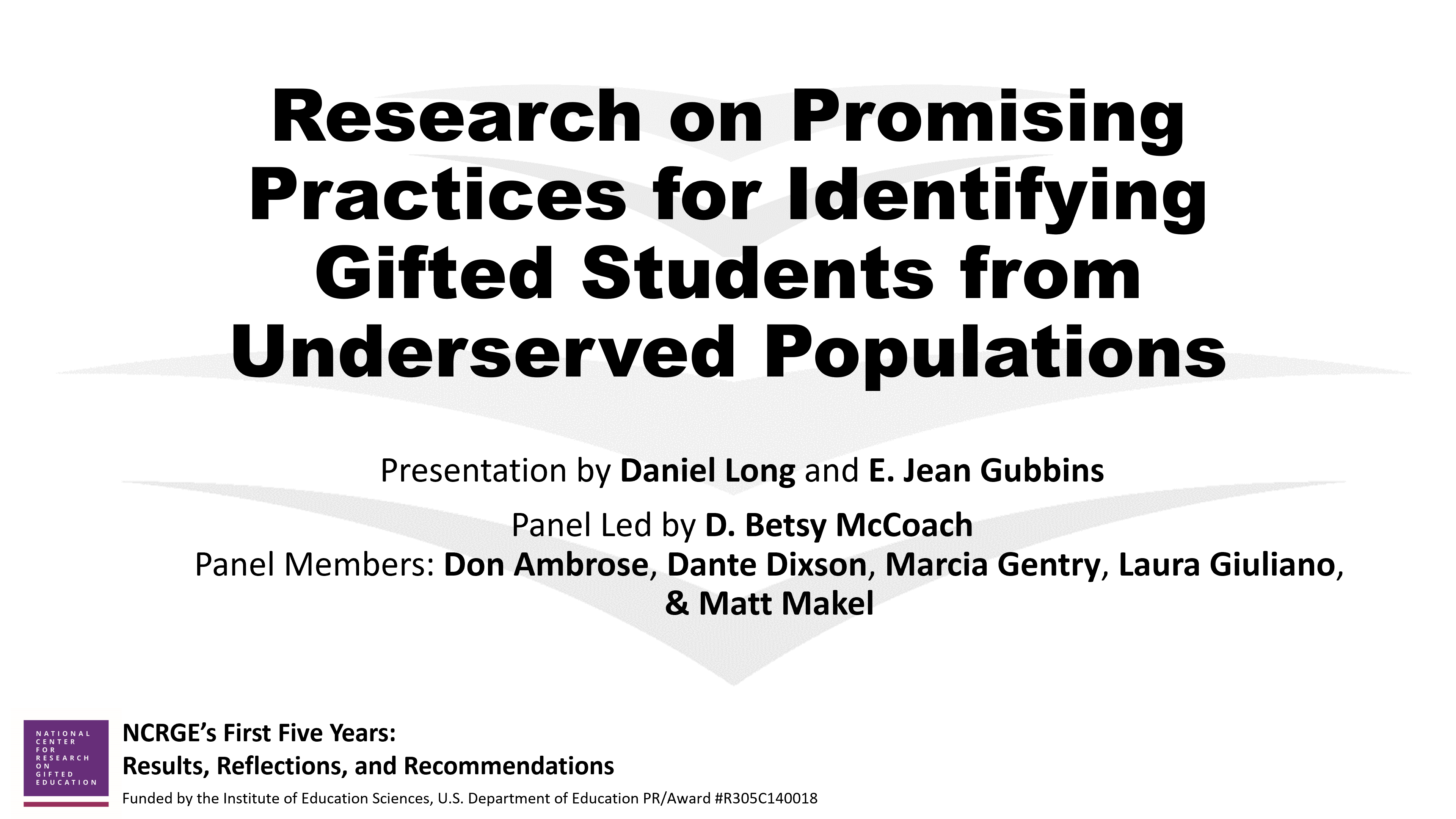 Research on Promising Practices